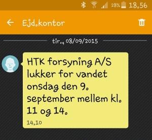 SMS eksempel