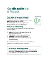 Lukning af FM signalet sker d.27.01.17