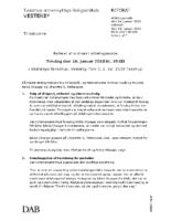 Referat afdelingsmøde 16. januar 2018